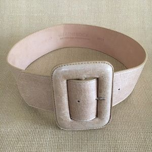 LEATHEROCK Cream/ Natural Color Belt